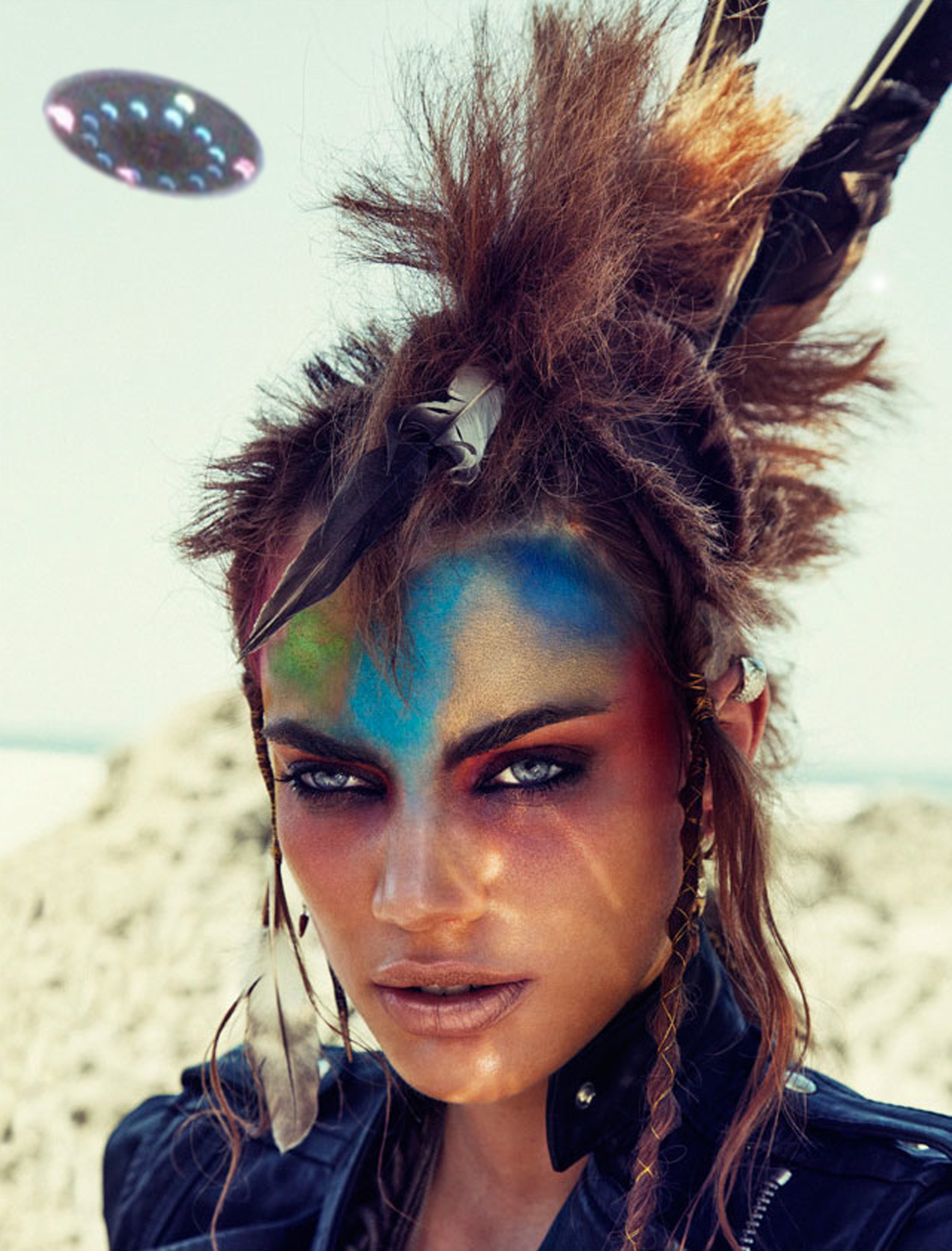Native Paint Princess American Warrior Face
