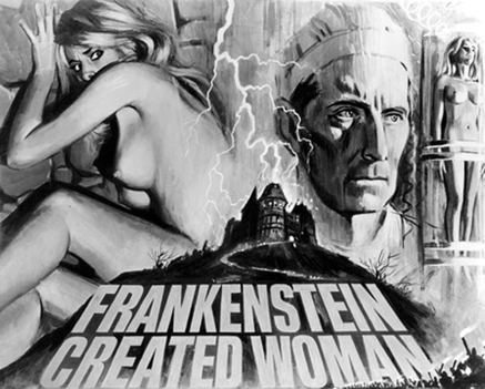 British art. Frankenstein Created Woman. Hammer Films, 1967.