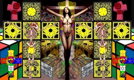 goetia_girls_crucified_tetrachromat_witch_sleipnir_lemarchand_rubix_cube_tesseract_hypercube_cross