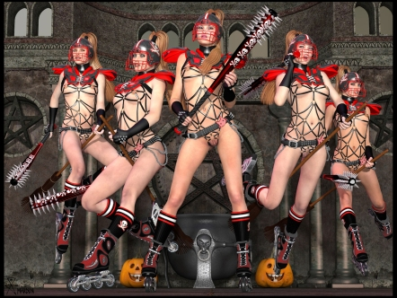 goetia_girls_lilith's_harem_hogwarts_quidditch_st_trinian_rollerball_schoolgirl_witch_succubus_of_faustus_crow