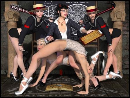 goetia_girls_lilith's_hogwarts_harem_st_trinian_school_convent_headmistress_schoolgirl_succubus_of_faustus_crow